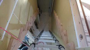 階段の準備が進んでいます
